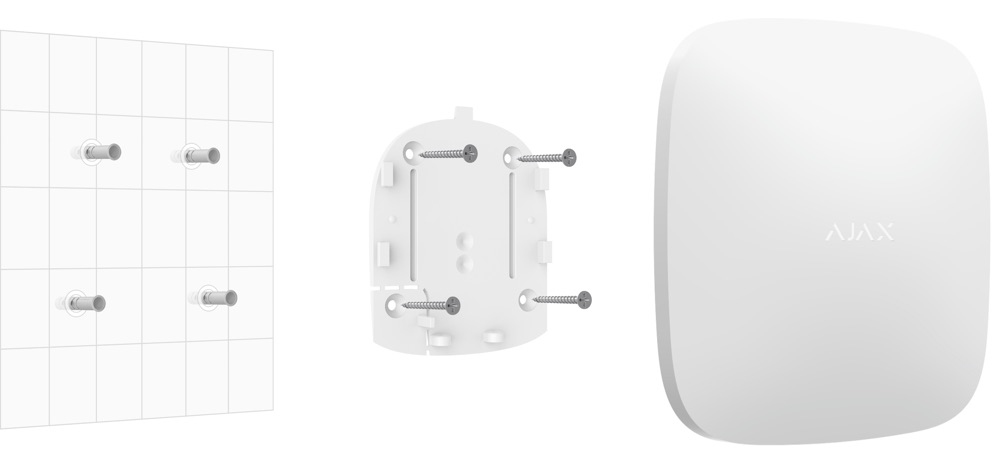hub plus smartbracket install white