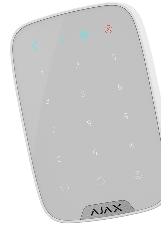 ajax keypad white overview